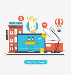 booking reserve hoteltravel booking concept vector image