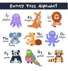 cartoon animals alphabet vector image