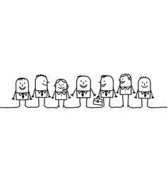 Cartoon characters - business team vector