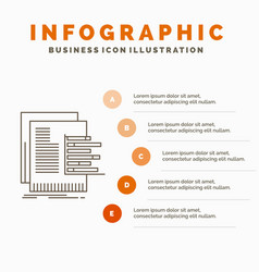 Chart data graph reports valuation infographics vector