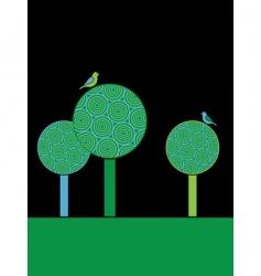 Circle trees vector