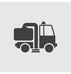Cleaning machine icon vector image