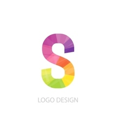 colorful logo letter vector image vector image