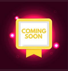 Coming soon banner vector