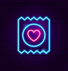 condom neon sign vector image