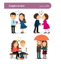 Couple in love First date vector image