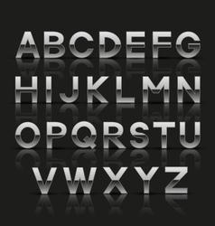Decorative silver alphabet vector
