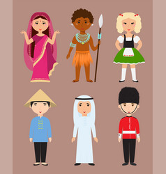Diverse avatars cartoon characters different vector