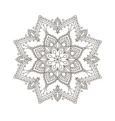Ethnic mandala design - bohemian mandala pattern vector