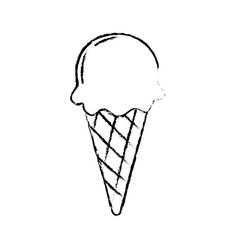 Figure delicious ice cream to refresh the day vector