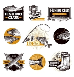 Fishing Logo Emblems vector