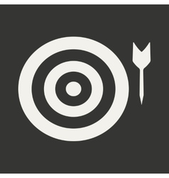Flat in black and white mobile application target vector