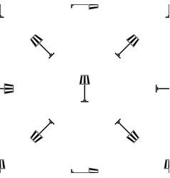 floor lamp pattern seamless black vector image