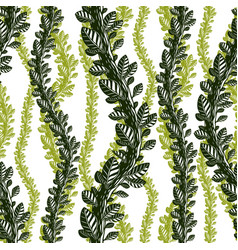 floral seamless pattern with leaves and branches vector image