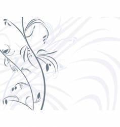 floral white background vector image vector image