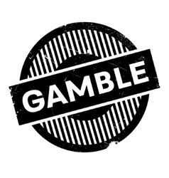 Gamble rubber stamp vector