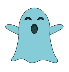 ghost funny cartoon vector image