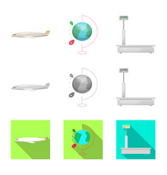 goods and cargo symbol set vector image