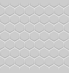 gray hexagon of honeycomb brick pattern seamless vector image