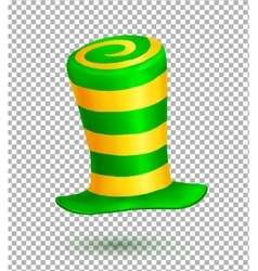 Green and yellow colors striped realistic vector image
