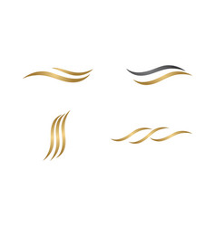 hair wave logo vector image