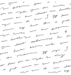 handwriting background seamless pattern grunge vector image