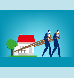 house loan concept finance and economy vector image
