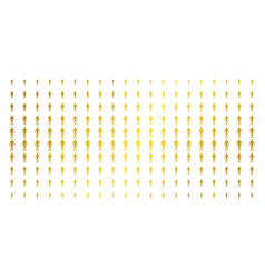 human gold halftone pattern vector image