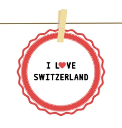 I lOVE SWITZERLAND4 vector image
