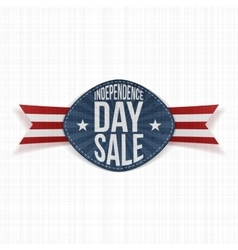 Independence Day Sale scratched Label vector image