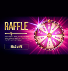 internet raffle roulette fortune banner vector image