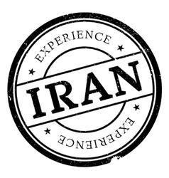 Iran stamp rubber grunge vector