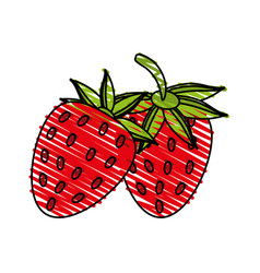 Juicy fresh fruit cartoon vector