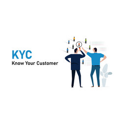 Kyc know your customer concept profiling vector