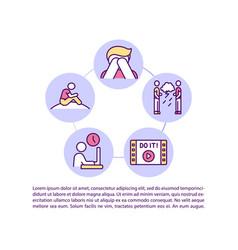 Life crisis avoidance concept icon with text vector