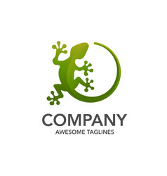 lizard logo template vector image
