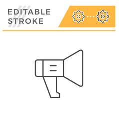 loudspeaker editable stroke line icon vector image
