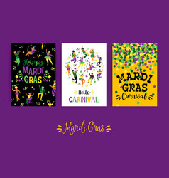 Mardi gras templates for carnival concept vector