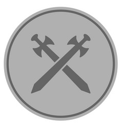 medieval swords silver coin vector image
