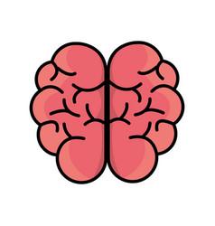 Mental health smart brain icon vector