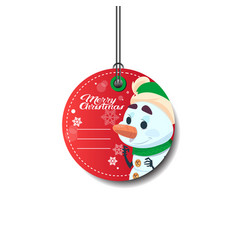 Merry christmas tag holiday sale sticker with vector