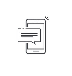 mobile phone chat message notification icon vector image