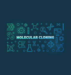 molecular cloning colorful outline vector image