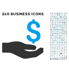 Money Donation Icon with Flat Set vector image