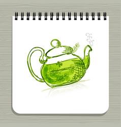 notebook design herbal tea vector image