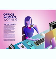 office woman art vector image