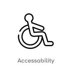outline accessability icon isolated black simple vector image