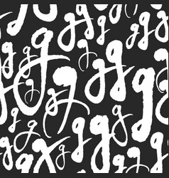pattern with calligraphy letters g vector image