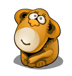 plush toy in form brown monkey isolated on vector image