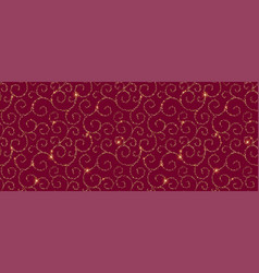red and gold ornametal pattern abstract modern vector image